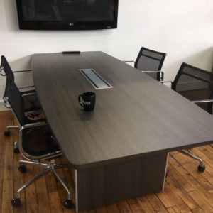 "SKYLINE 8' x 42"" Conference Table (One Grommet)"