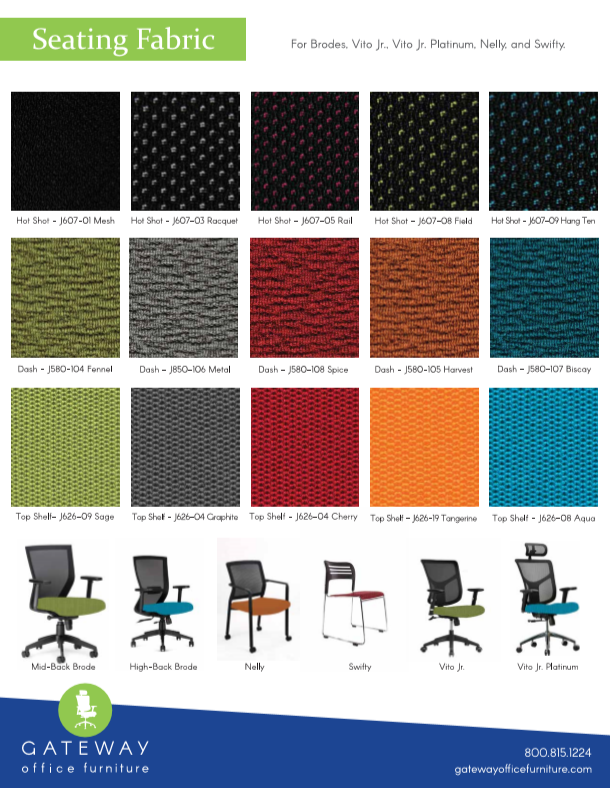 Gateway seating fabric